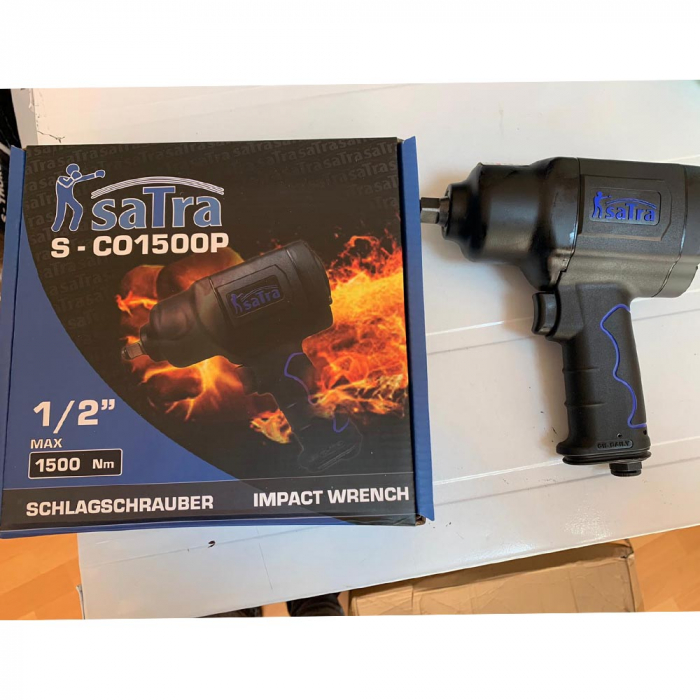 Pachet Pistol pneumatic de impact 1/2 1500Nm + Trusa tubulare impact 1/2 6