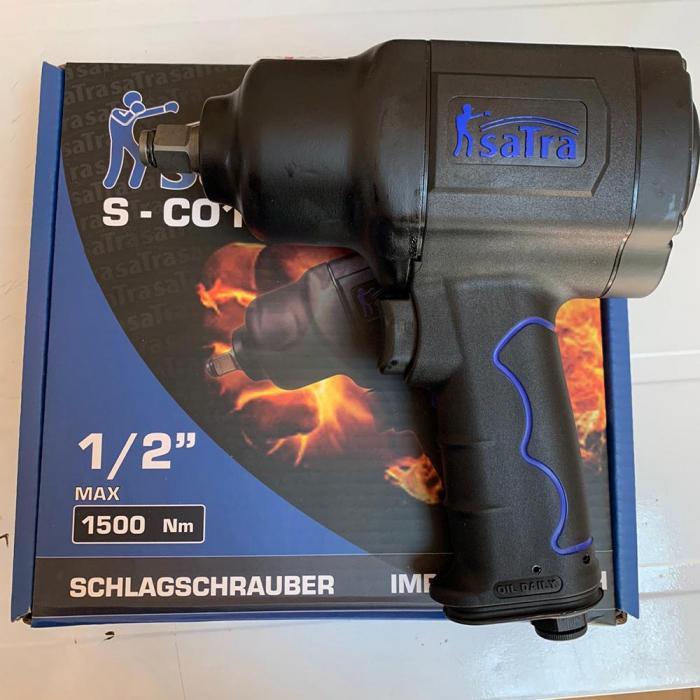 Pachet Pistol pneumatic de impact 1/2 1500Nm + Trusa tubulare impact 1/2 5