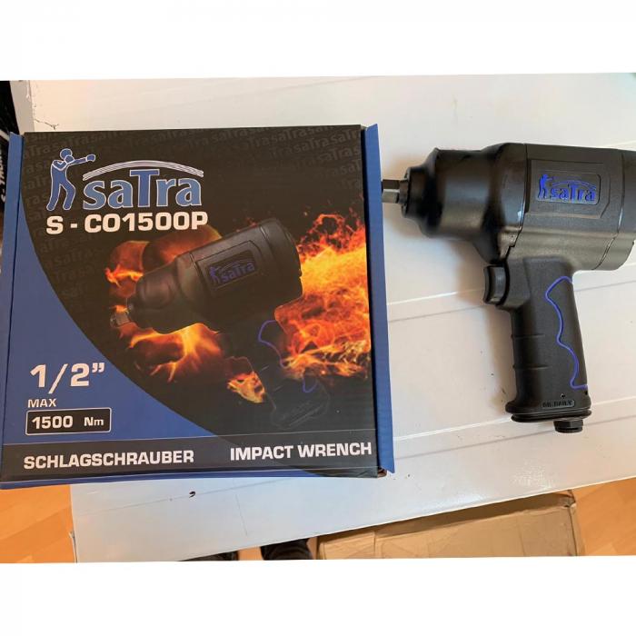Pachet Vulcanizare Asta 1-Cric perna aer 3T + Pistol pneumatic 1/2 1500Nm 7