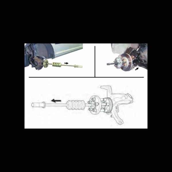 Extractor butuc si tambur cu ciocan glisant 2