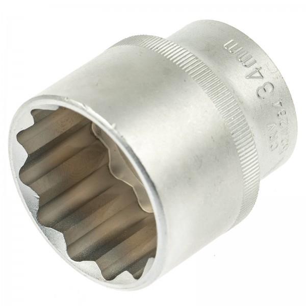 Cheie tubulara scurta 34mm 12 laturi 1/2 0