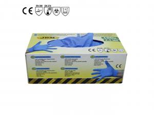 Manusi latex nitrilice albastre1