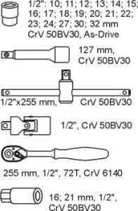 Modul chei tubulare cu clichet1