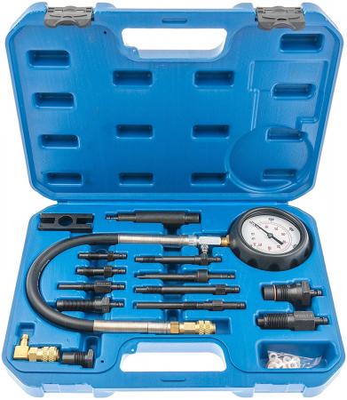 Trusa pentru masurat compresie diesel cu adaptoare 0-70 BAR 17 piese [3]