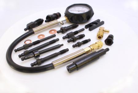 Trusa pentru masurat compresie diesel cu adaptoare 0-70 BAR 17 piese [1]