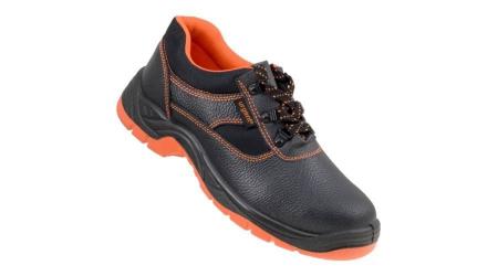 Pantofi de protectie cu bombeu metalic din piele de bivol