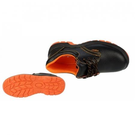Pantofi de protectie cu bombeu metalic din piele de bivol [4]