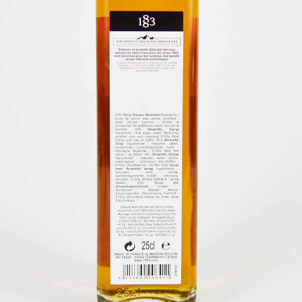 Amaretto, Sirop 1883 Maison Routin, 250ml 2