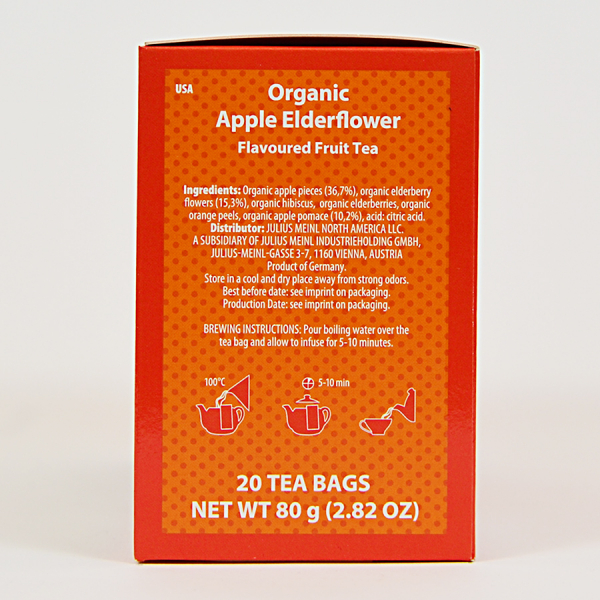 Apple Elderflower, ceai organic Julius Meinl, Big Bags 1