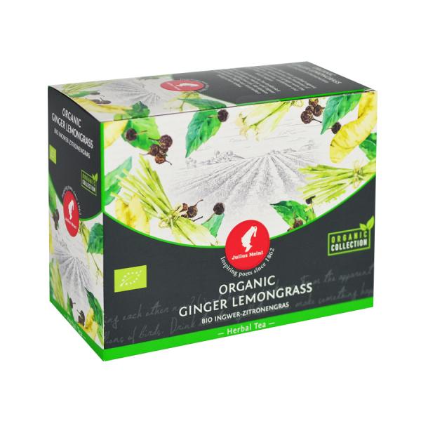 Ginger Lemongrass, ceai organic Julius Meinl, Big Bags 0
