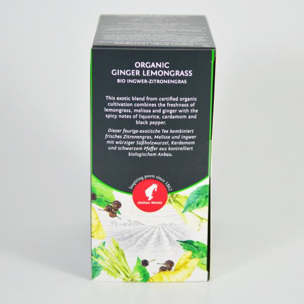 Ginger Lemongrass, ceai organic Julius Meinl, Big Bags 3