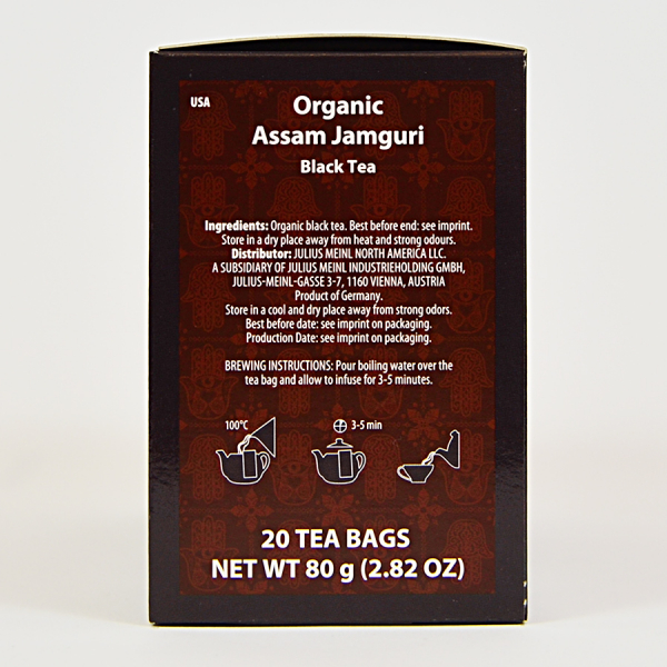 Assam Jamguri, ceai organic Julius Meinl, Big Bags 1