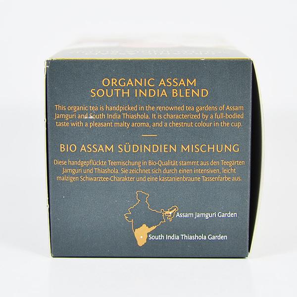 Assam South India Blend, ceai organic Julius Meinl, Leaf Bags 2