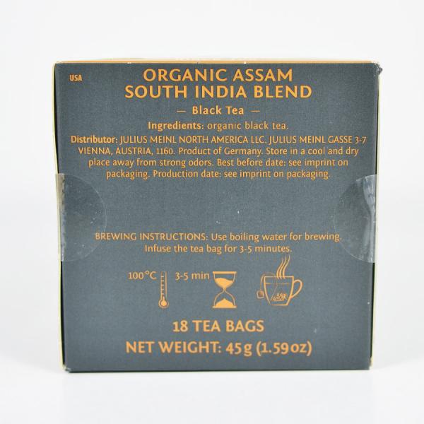 Assam South India Blend, ceai organic Julius Meinl, Leaf Bags 4