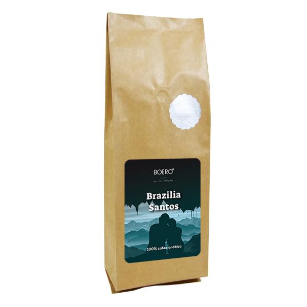 Brazilia Santos, cafea macinata proaspat prajita Boero, 1 kg 0