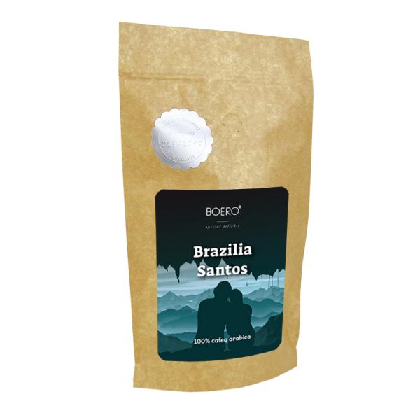 Brazilia Santos, cafea boabe proaspat prajita Boero, 350 grame