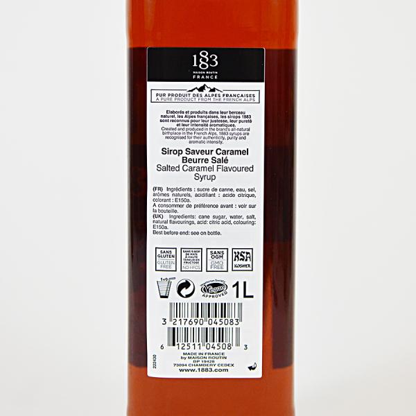 Caramel Sarat, Sirop 1883 Maison Routin, 1L 2