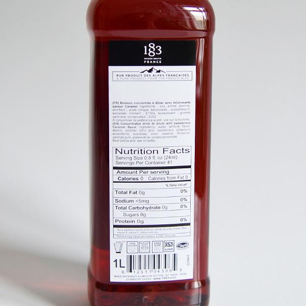 Caramel, Sugar Free, Sirop 1883 Maison Routin, 1L 2