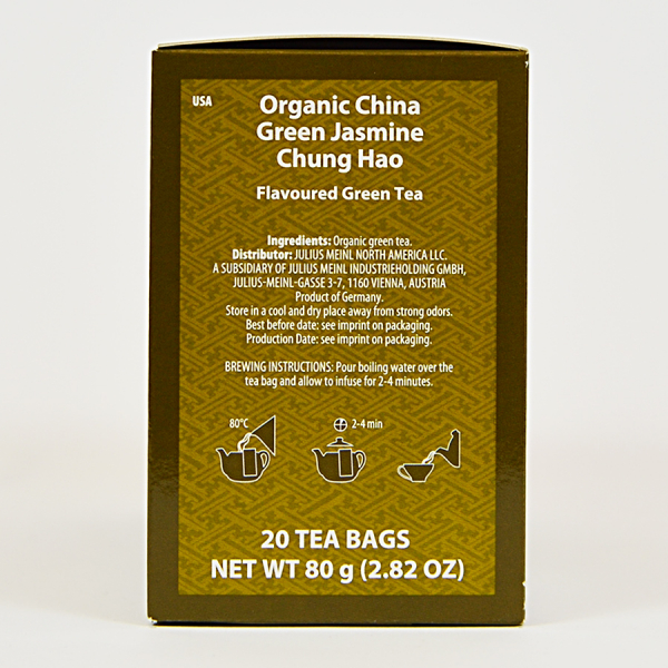 China Green Jasmine Chung Hao, ceai organic Julius Meinl, Big Bags 3
