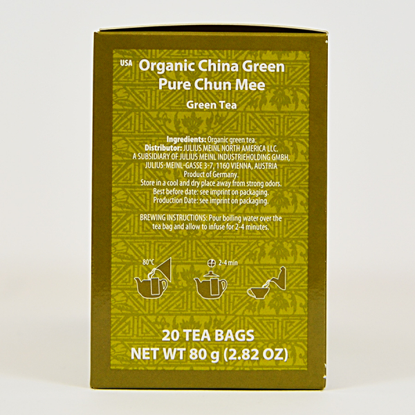 China Green Pure Chun Mee, ceai organic Julius Meinl, Big Bags 1