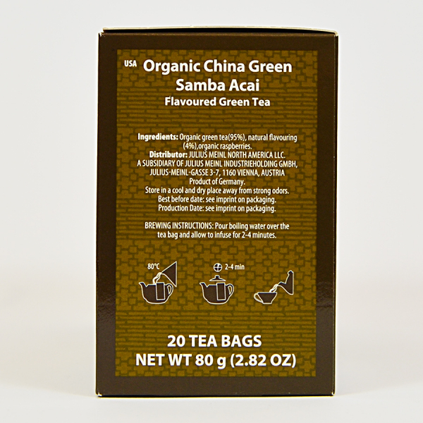 China Green Samba Acai, ceai organic Julius Meinl, Big Bags 1