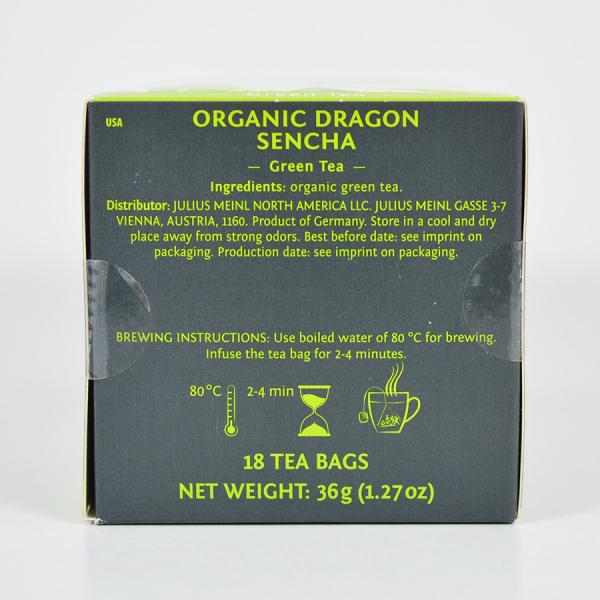 Dragon Sencha, ceai organic Julius Meinl, Leaf Bags 3