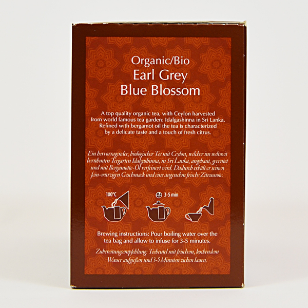 Earl Grey Blue Blossom, ceai organic Julius Meinl, Big Bags 1