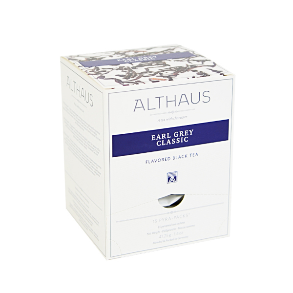 Earl Grey Classic, ceai Althaus Pyra Packs 0