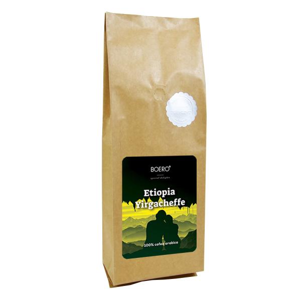 Etiopia Yirgacheffe, cafea boabe proaspat prajita Boero, 1 kg 0