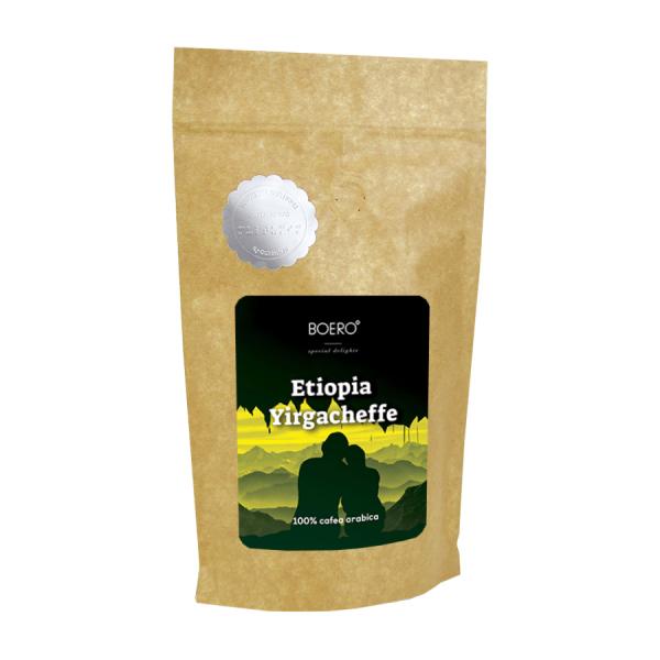 Etiopia Yirgacheffe, cafea boabe proaspat prajita Boero, 250 grame 0