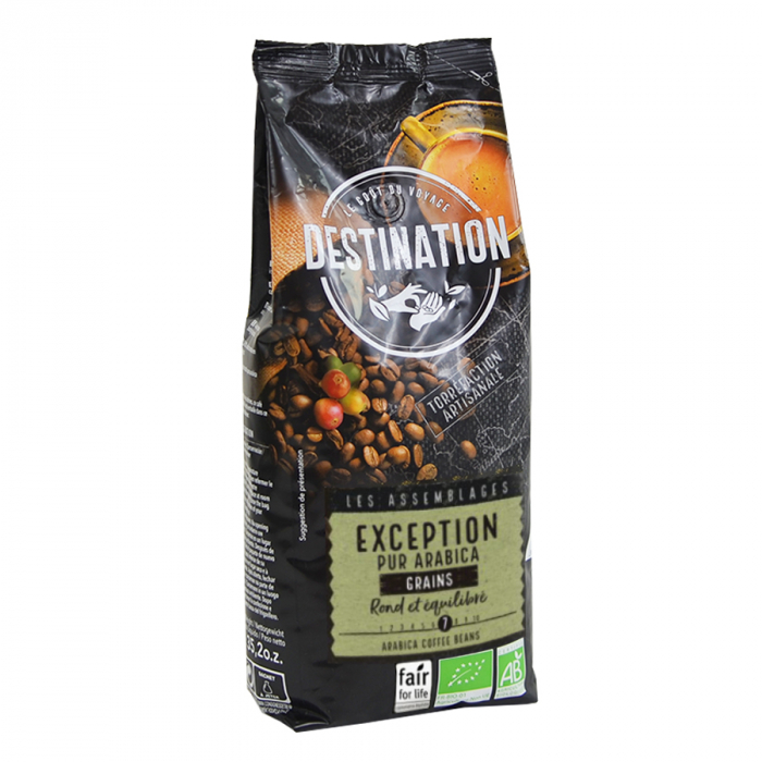 Exception Pur Arabica, cafea boabe Destination, 250g 0
