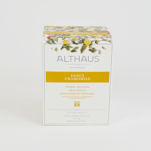 Fancy Chamomile, ceai Althaus Pyra Packs 2