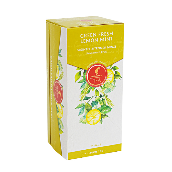 Green Fresh Lemon Mint, ceai Julius Meinl - 25 plicuri 1