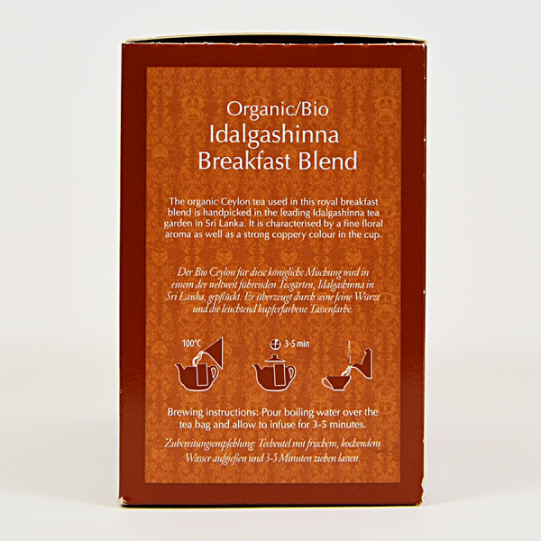 Idalgashinna Breakfast Blend, ceai organic Julius Meinl, Big Bags 1