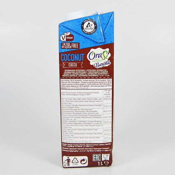 Lapte vegetal pentru cafea - Cocos, Orasi 1L 3