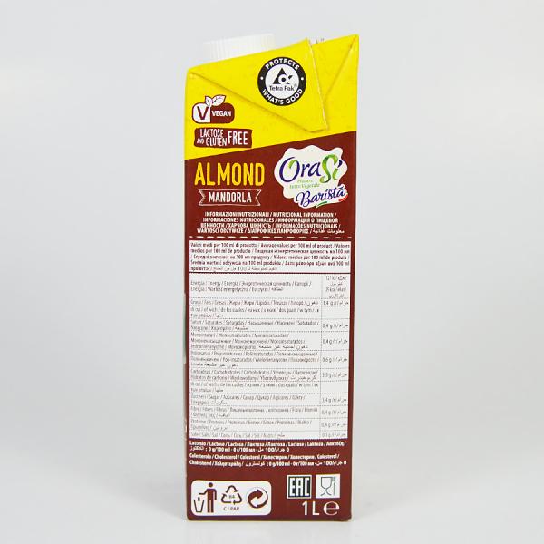 Lapte vegetal pentru cafea - Migdale, Orasi 1L 3