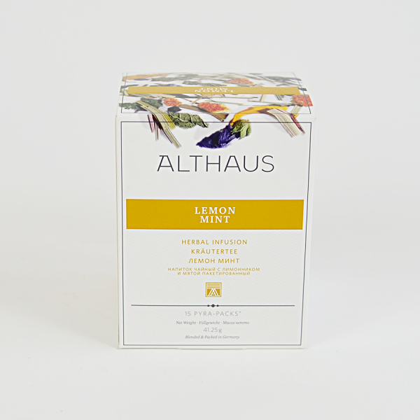 Lemon Mint, ceai Althaus Pyra Packs 1