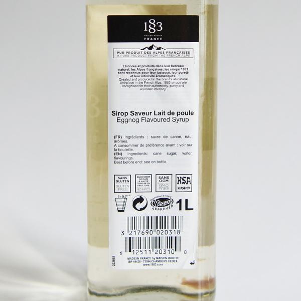 Lichior de oua, Sirop 1883 Maison Routin, 1L 2