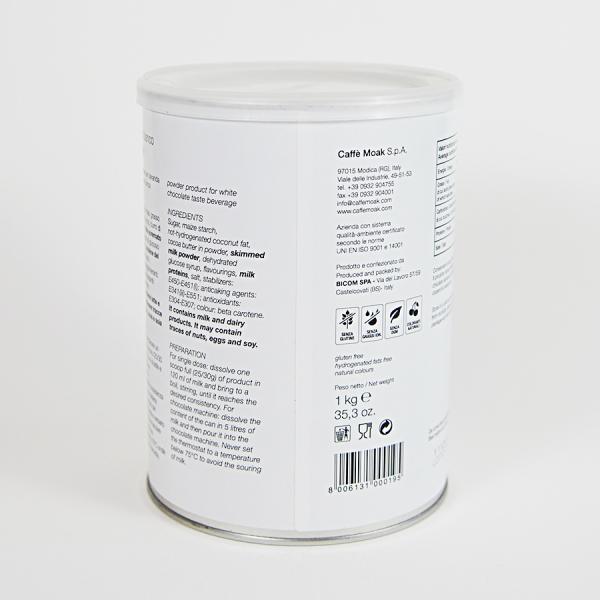 Ciocolata calda alba Moak, 1 kg 1