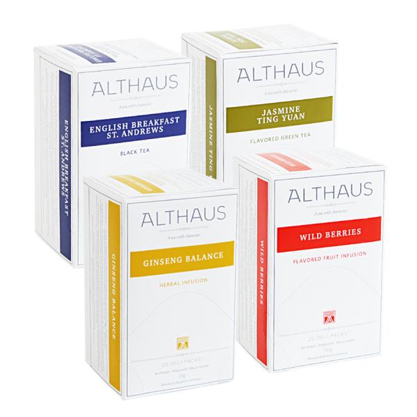 Pachet patru cutii de ceai Althaus Deli Packs