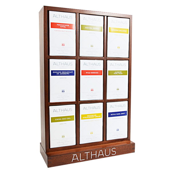 Pachet Display Althaus si 9 cutii ceai Althaus Deli Packs 1