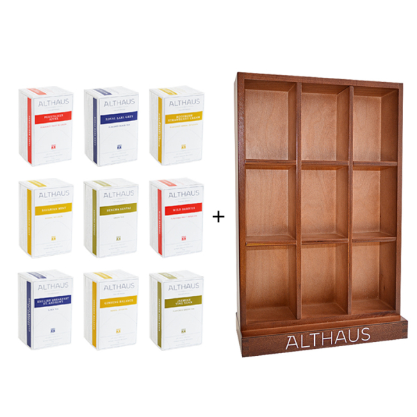 Pachet Display Althaus si 9 cutii ceai Althaus Deli Packs 2