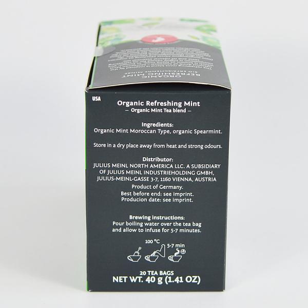 Refreshing Mint, ceai organic Julius Meinl, Big Bags 2