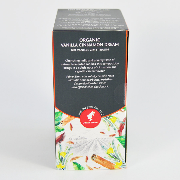 Vanilla Cinnamon Dream, ceai organic Julius Meinl, Big Bags 1
