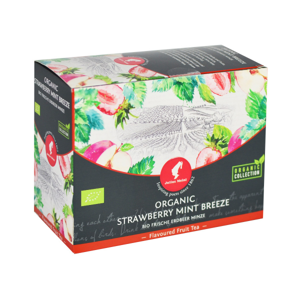 Strawberry Mint Breeze, ceai organic Julius Meinl, Big Bags 0