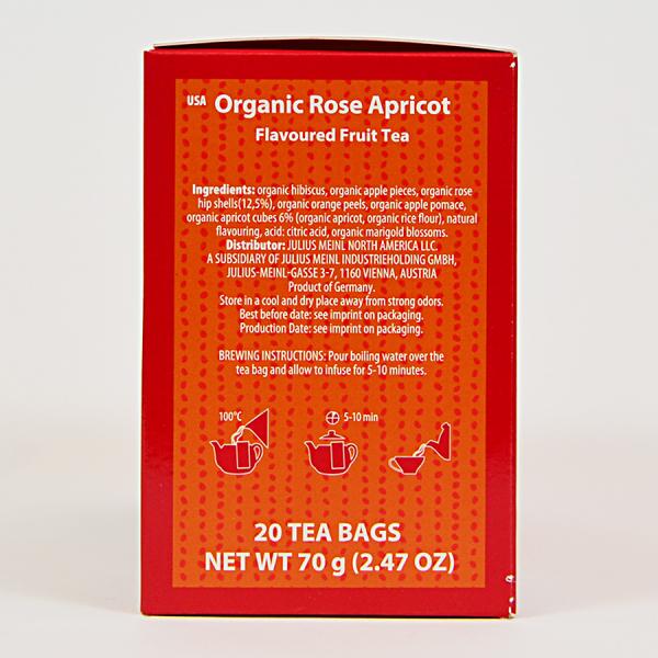 Rose Apricot, ceai organic Julius Meinl, Big Bags 1