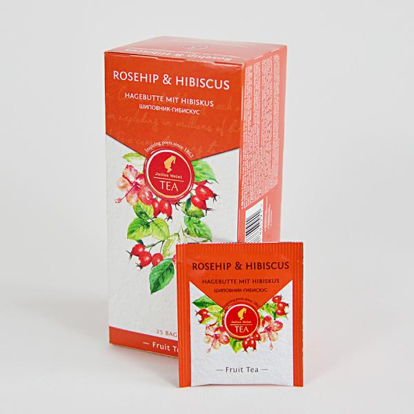 Rosehip & Hibiscus, ceai Julius Meinl - 25 plicuri