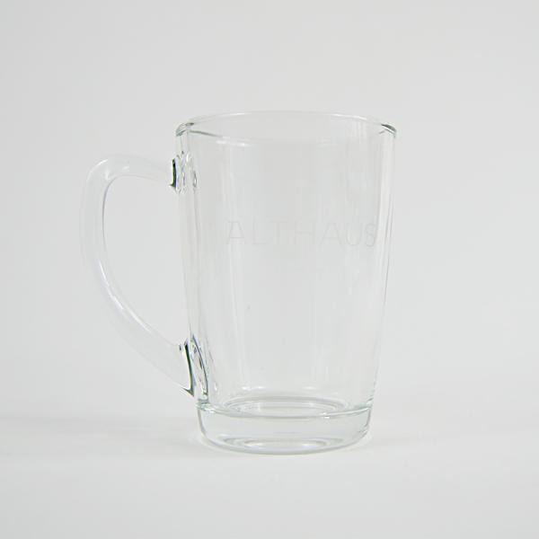 Set cana si farfurioara din sticla pentru ceai Althaus, 300 ml
