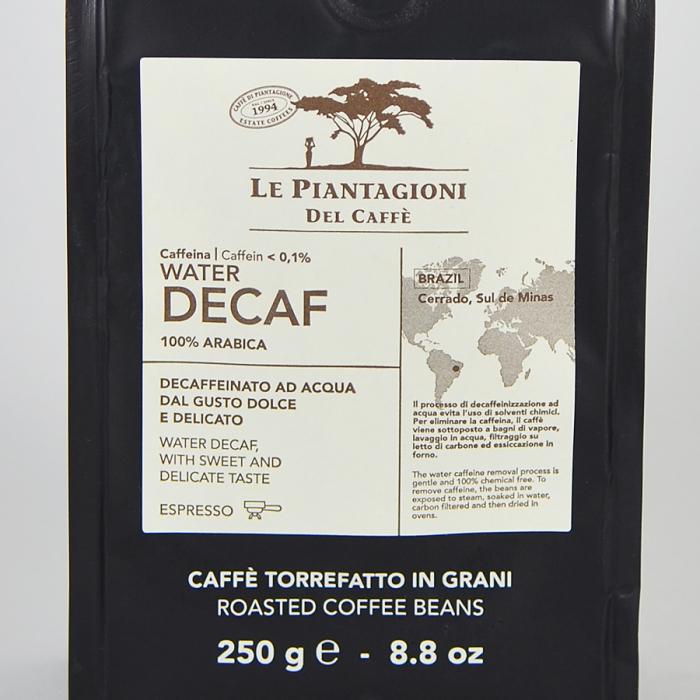 Water Decaf, cafea boabe Le piantagioni del caffe, 250gr 1