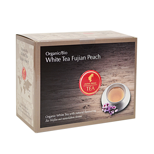 White Tea Fujian Peach, ceai organic Julius Meinl, Big Bags 0